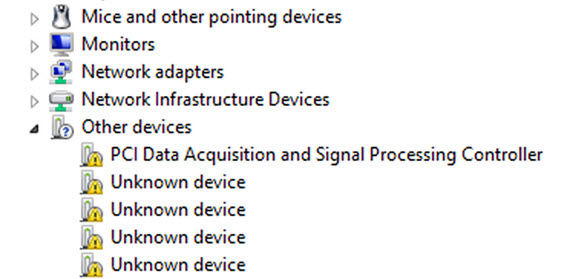 Open Unknown Device Properties