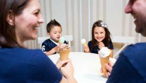 Icecream with family